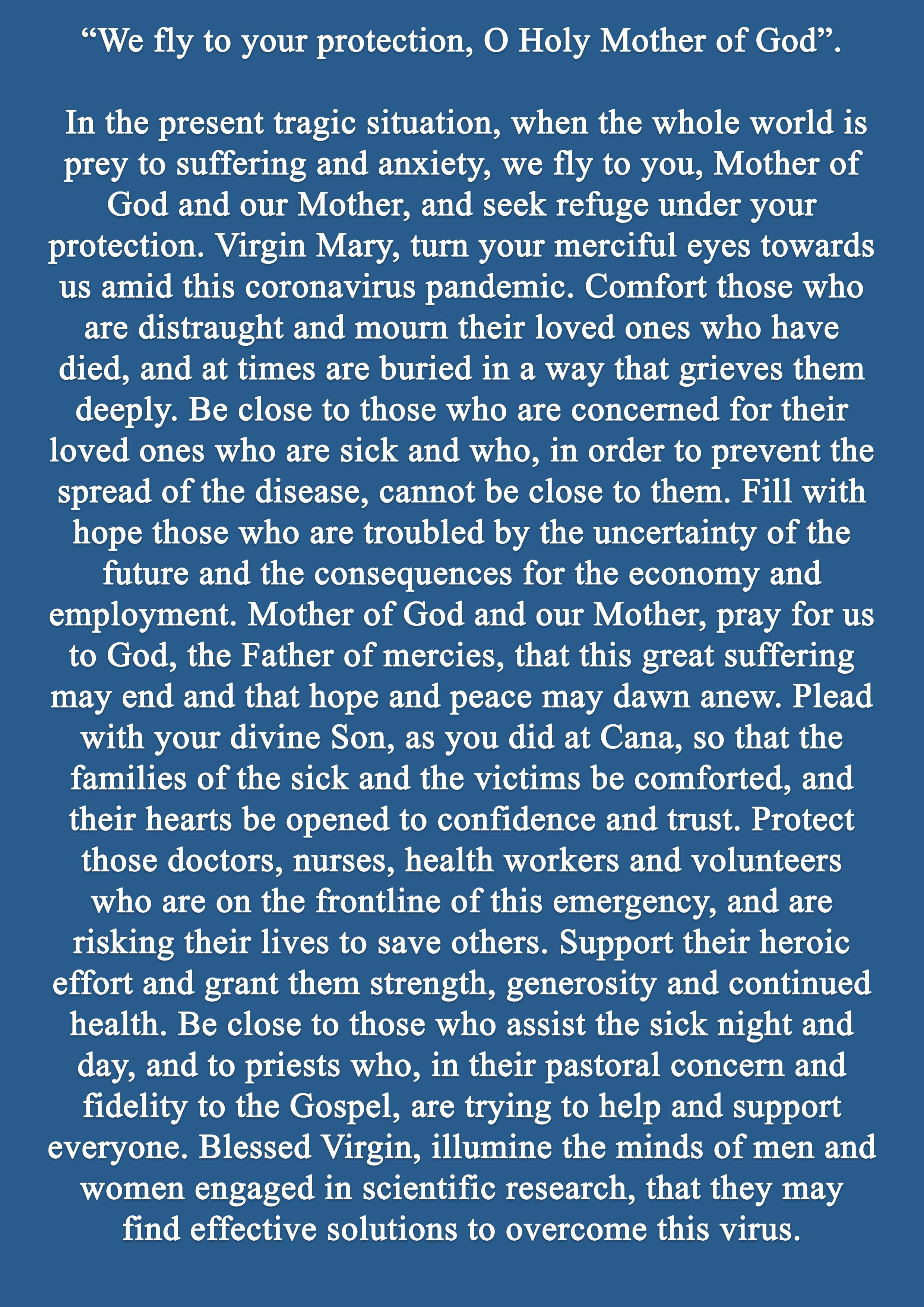 Pope Francis Prayer for May 3a