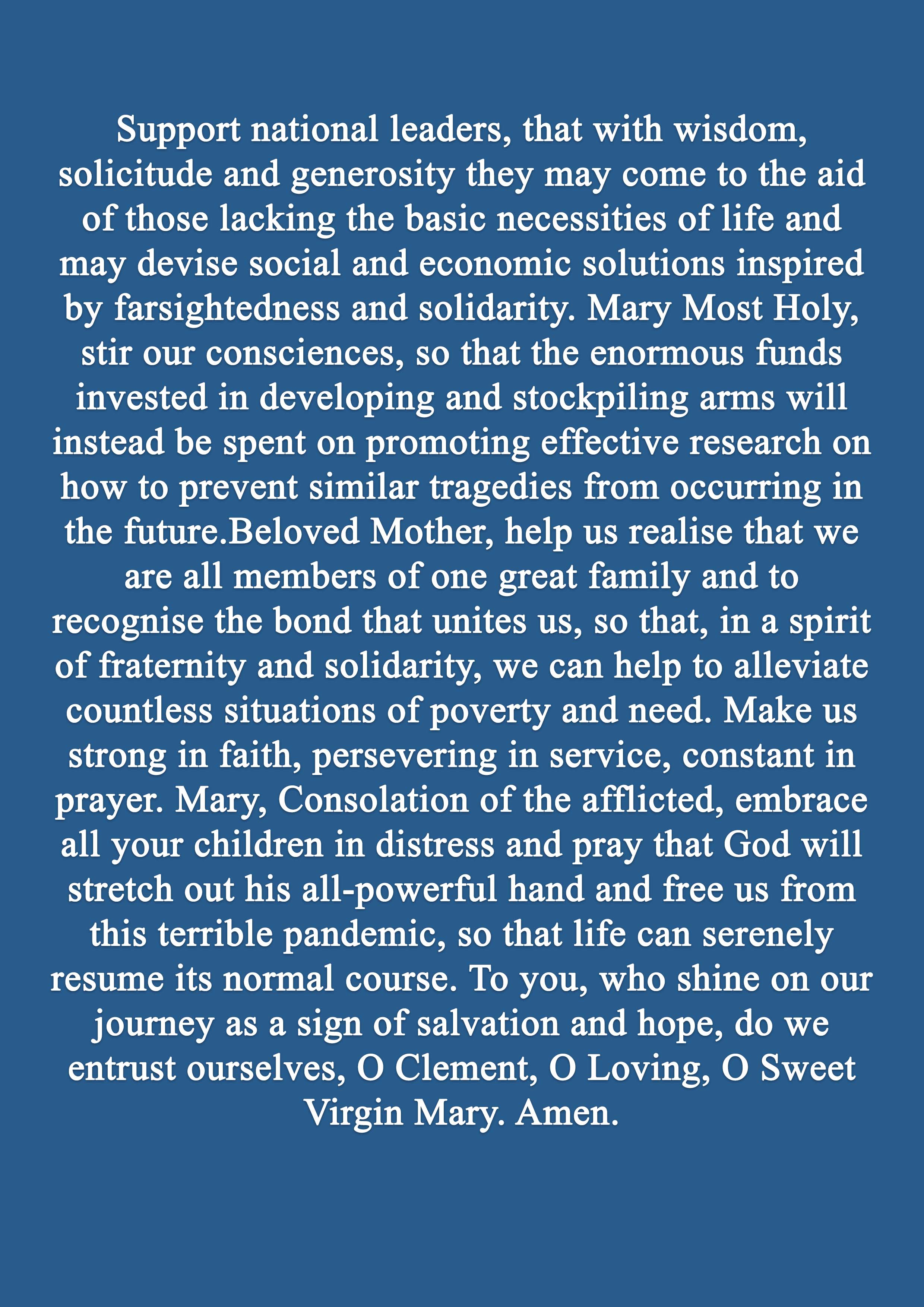 Pope Francis Prayer for May 3b
